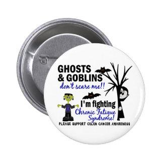 Halloween Warrior CFS Chronic Fatigue Syndrome Button