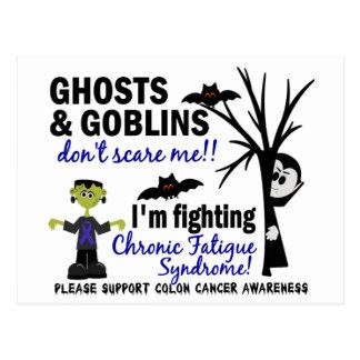 Halloween Warrior CFS Chronic Fatigue Syndrome Postcard