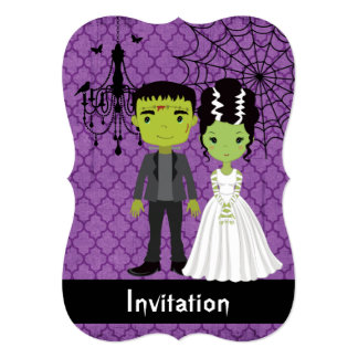 Halloween Wedding Invitation Bride of Frankenstein