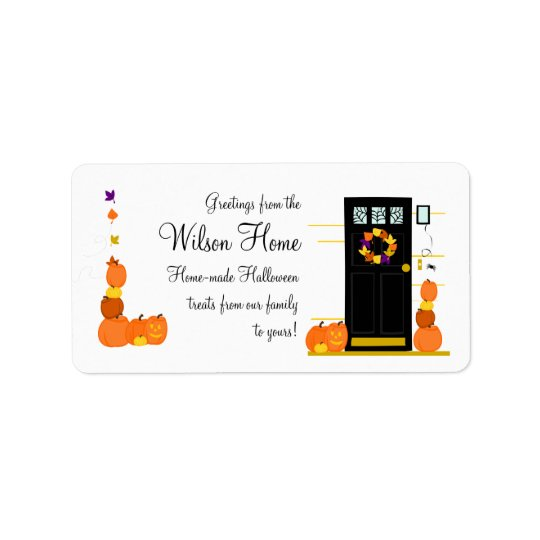 Halloween Welcome Address Label