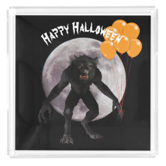 Halloween Werewolf Acrylic Tray