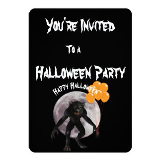 Halloween Werewolf Party Invitation