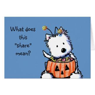Halloween Westie Card