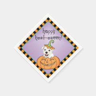 Halloween Westie Paper Napkin