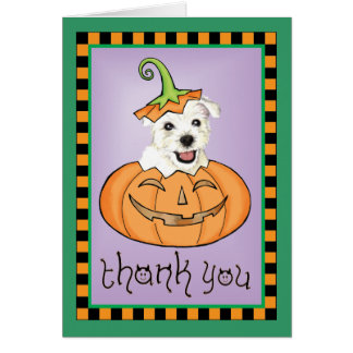 Halloween Westie Thank You Card