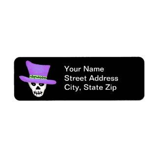 Halloween Whimsy Skeleton Skull Return Address Return Address Label