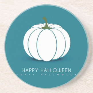 Halloween White Pumpkin Design Illustration Coasters