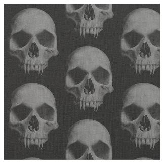 Halloween wicked skulls fabric