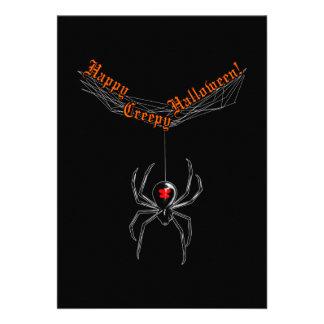 Halloween Widow 13 Cm X 18 Cm Invitation Card