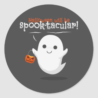 Halloween will be spook-tacular classic round sticker