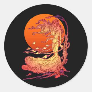 Halloween Wind Classic Round Sticker
