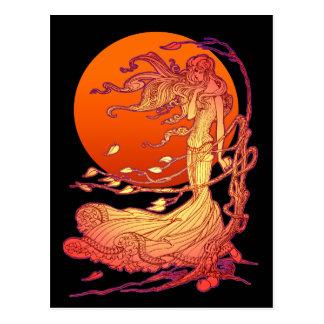 Halloween Wind Postcard