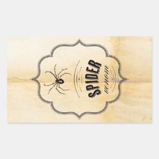 Halloween Wine Beer Label Rectangular Sticker