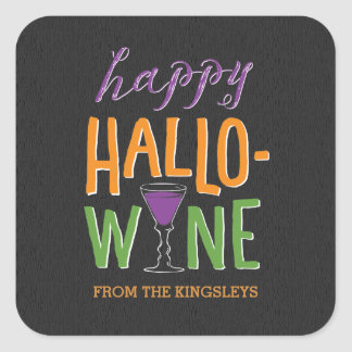 Halloween Wine Bottle Label or Gift Tag Stickers