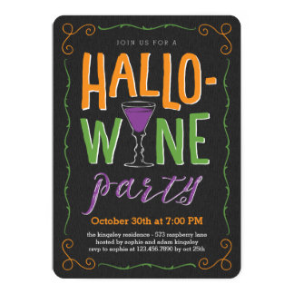 Halloween Wine Party Invitation