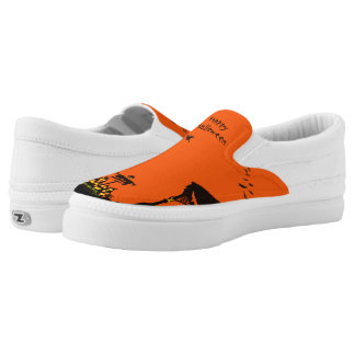 Halloween witch and Jack-O-Lantern sneakers