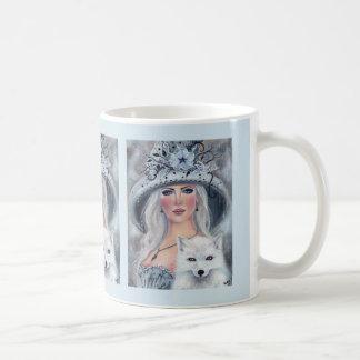 Halloween witch and wolf coffee mug by Renee
