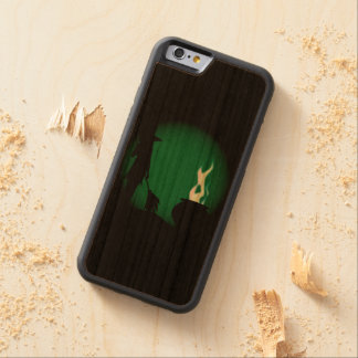 Halloween Witch Background Carved Cherry iPhone 6 Bumper Case