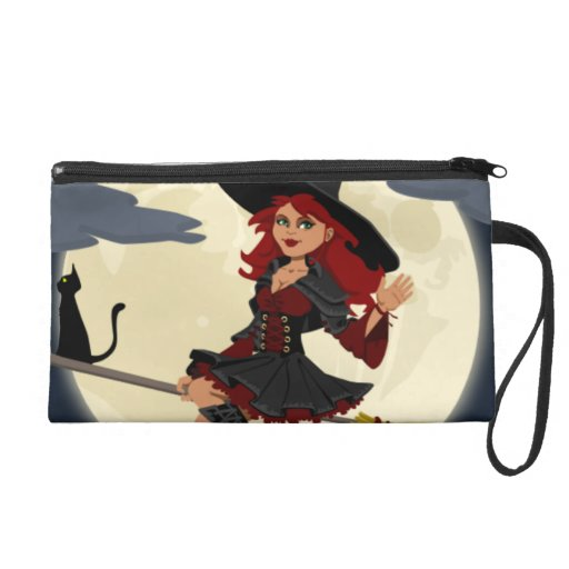 Halloween Witch Wristlet Purses