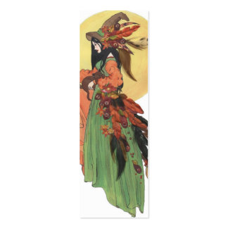 Halloween Witch Bookmark Business Cards