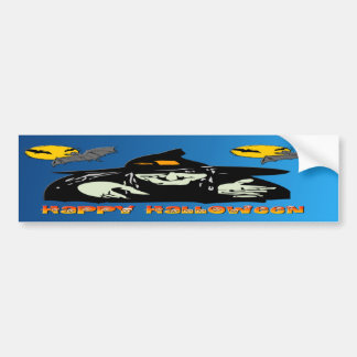 Halloween Witch Car Bumper Sticker