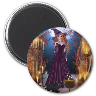 Halloween Witch by Candlelight Magnets