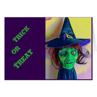 Halloween witch card