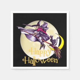 Halloween Witch cartoon paper napkin