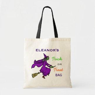 Halloween Witch Cartoon Trick or Treat Custom Bags