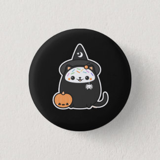 Halloween Witch Cat 3 Cm Round Badge