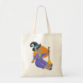 Halloween Witch Doll Trick or Treat Tote Bag