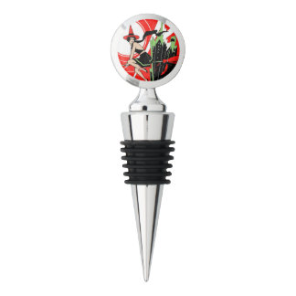Halloween Witch Flying (vintage) Wine Stopper