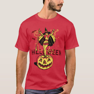 Halloween Witch Girl (vintage) T-Shirt