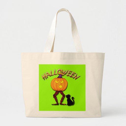 HALLOWEEN-, witch-in-a-pumpkin-bag