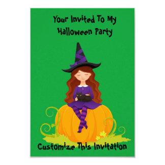 Halloween Witch 9 Cm X 13 Cm Invitation Card