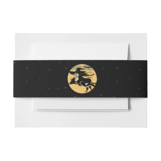 Halloween Witch Invitation Belly Band
