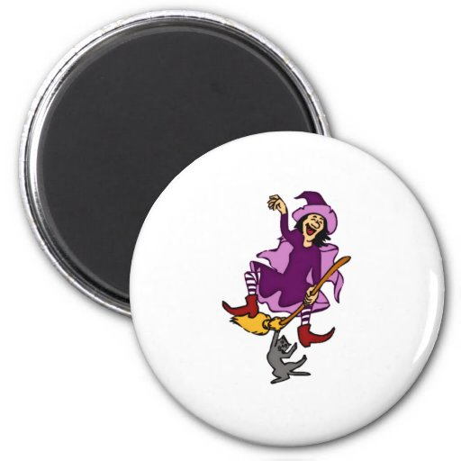 Halloween Witch Refrigerator Magnet