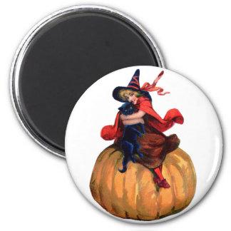 Halloween - Witch 6 Cm Round Magnet
