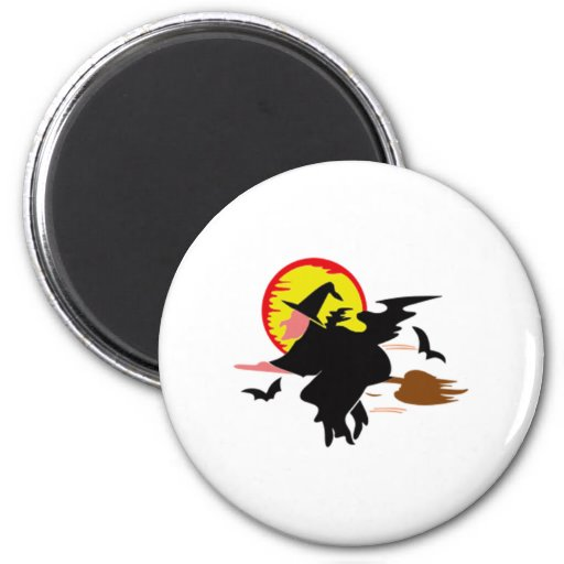 Halloween Witch Refrigerator Magnets
