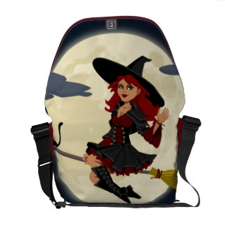 Halloween Witch Courier Bags