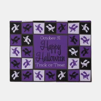 Halloween witch mosaic doormat