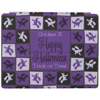 Halloween witch mosaic iPad cover