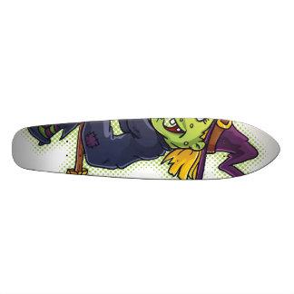 Halloween Witch on a Broom 21.6 Cm Skateboard Deck