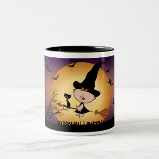 Halloween Witch on Broomstick Party Mug