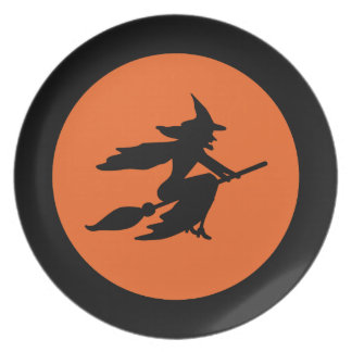 Halloween Witch Party Plates