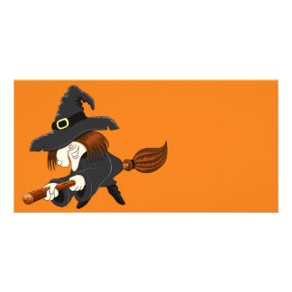Halloween Witch Personalised Photo Card