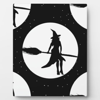halloween witch plaque