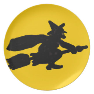 Halloween Witch Party Plate
