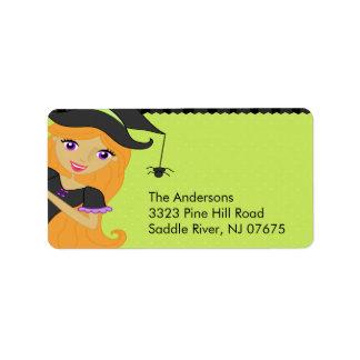 Halloween Witch Return Address Label