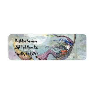 Halloween Witch Return Address Labels